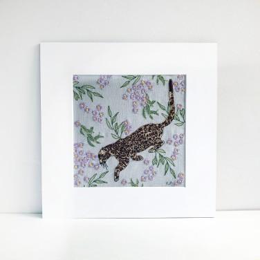 Kirsty Freeman Design - Wall Art, Leopard Art, Art for Sale, Contemporary Embroidery, Modern Embroidery, Embroidery Art, Wall Decor, Kitchen Wall Art, Bedroom Wall Decor, Modern Wall Art, Wall Art Decor 1
