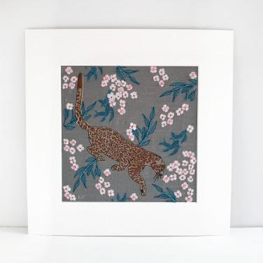 Kirsty Freeman Design - Wall Art, Leopard Art, Art for Sale, Contemporary Embroidery, Modern Embroidery, Embroidery Art, Wall Decor, Kitchen Wall Art, Bedroom Wall Decor, Modern Wall Art, Wall Art Decor 8