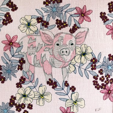 Kirsty Freeman Design - Wall Art, Pig Art, Art for Sale, Contemporary Embroidery, Modern Embroidery, Embroidery Art, Wall Decor, Kitchen Wall Art, Bedroom Wall Decor, Modern Wall Art, Wall Art Decor 13