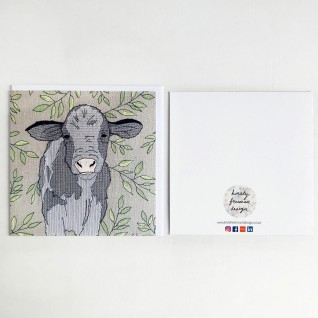 Kirsty Freeman Design - Greetings Card, Animal Card, Flower Card, Blank Card, Unique Card, Birthday Card, Thank You Card, Square Card, Occasions Card, Cow Card 1