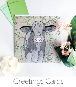Kirsty Freeman Design - Greetings Card, Animal Card, Flower Card, Blank Card, Unique Card, Birthday Card, Thank You Card, Square Card, Occasions Card, Cow Card
