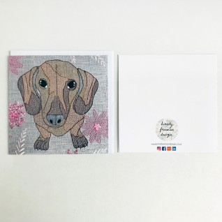Kirsty Freeman Design - Greetings Card, Animal Card, Flower Card, Blank Card, Unique Card, Birthday Card, Thank You Card, Square Card, Occasions Card, Dachshund Card, Dog Card 2