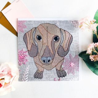 Kirsty Freeman Design - Greetings Card, Animal Card, Flower Card, Blank Card, Unique Card, Birthday Card, Thank You Card, Square Card, Occasions Card, Dachshund Card, Dog Card