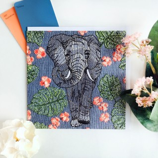 Kirsty Freeman Design - Greetings Card, Animal Card, Flower Card, Blank Card, Unique Card, Birthday Card, Thank You Card, Square Card, Occasions Card, Elephant Card
