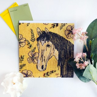 Kirsty Freeman Design - Greetings Card, Animal Card, Flower Card, Blank Card, Unique Card, Birthday Card, Thank You Card, Square Card, Occasions Card, Horse Card