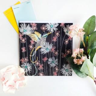 Kirsty Freeman Design - Greetings Card, Animal Card, Flower Card, Blank Card, Unique Card, Birthday Card, Thank You Card, Square Card, Occasions Card, Hummingbird Card, Bird Card 2