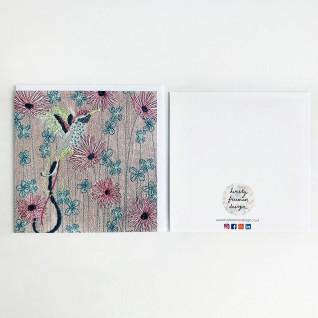 Kirsty Freeman Design - Greetings Card, Animal Card, Flower Card, Blank Card, Unique Card, Birthday Card, Thank You Card, Square Card, Occasions Card, Hummingbird Card, Bird Card 5