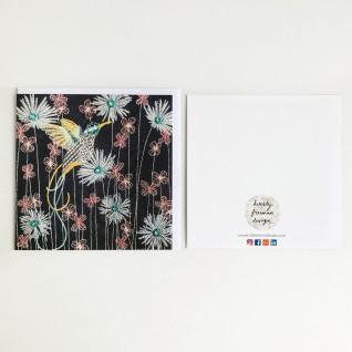 Kirsty Freeman Design - Greetings Card, Animal Card, Flower Card, Blank Card, Unique Card, Birthday Card, Thank You Card, Square Card, Occasions Card, Hummingbird Card, Bird Card 6