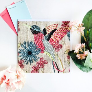 Kirsty Freeman Design - Greetings Card, Animal Card, Flower Card, Blank Card, Unique Card, Birthday Card, Thank You Card, Square Card, Occasions Card, Hummingbird Card, Bird Card