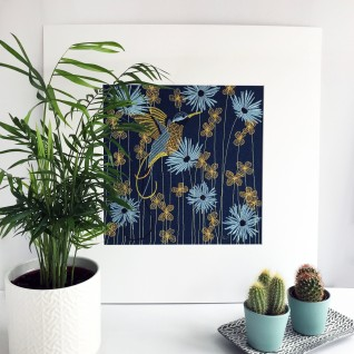 Kirsty Freeman Design - Wall Art, Art for Sale, Contemporary Embroidery, Modern Embroidery, Embroidery Art, Wall Decor, Kitchen Wall Art, Bedroom Wall Decor, Modern Wall Art, Hummingbird Art, Wall Art 24