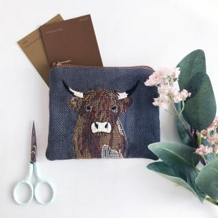 Kirsty Freeman Design - Handmade Purse, Embroidered Purse, Animal Purse, Fabric Purse, Coin Purse, Cow Purse, Cute Purse, Zipper Purse, Pretty Purse, Decorative Purse, Unique Purse 4
